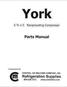 York 6 34 x 5 Parts