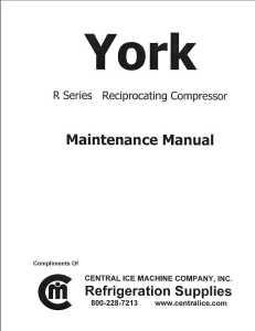 York R Series Maintenance